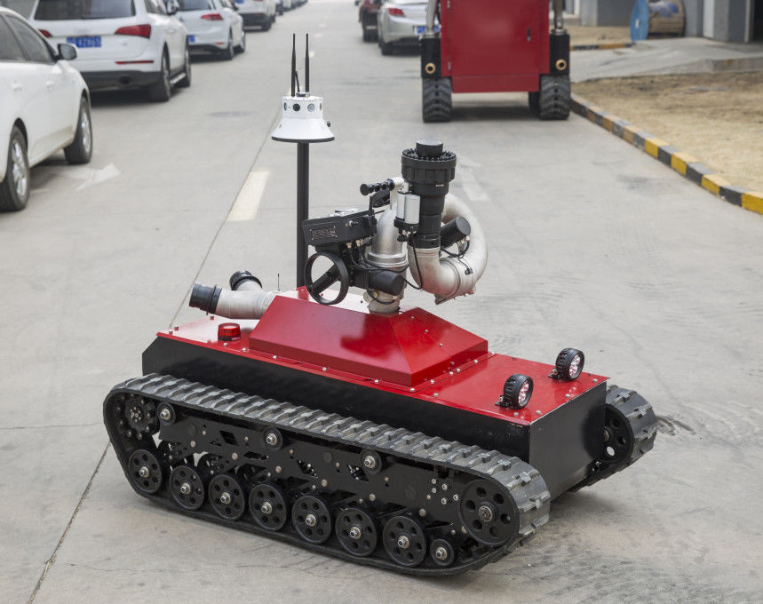 48V Fire Fighting Equipment 0-1.6m/S Speed Remote Control Fire Fighting Robot
